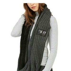 DKNY Fleece-Lined Knit Infinity Scarf